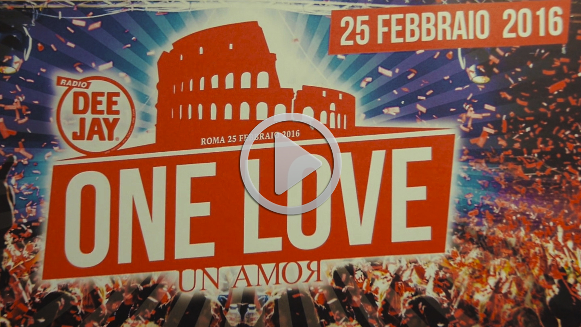 Radio Deejay One Love 2016 Roma